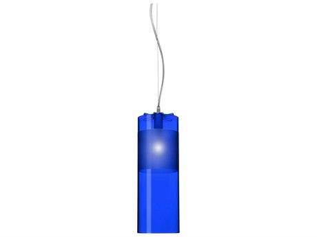 Kartell Easy Transparent Blue 5'' Wide Mini Pendant Light KAR9011W5