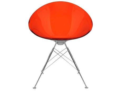 Kartell Eros Transparent Orange Dining Side Chair KAR4837E3