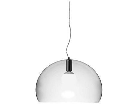 Kartell Fly Transparent Crystal 21'' Wide Pendant Light KAR9031B4