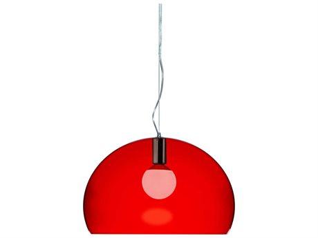 Kartell Fly Transparent Red 21'' Wide Pendant Light