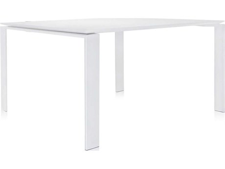 Kartell Four White 50'' Wide Square Dining Table KAR451082