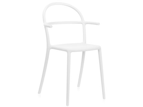 Kartell Generic White Arm Dining Chair