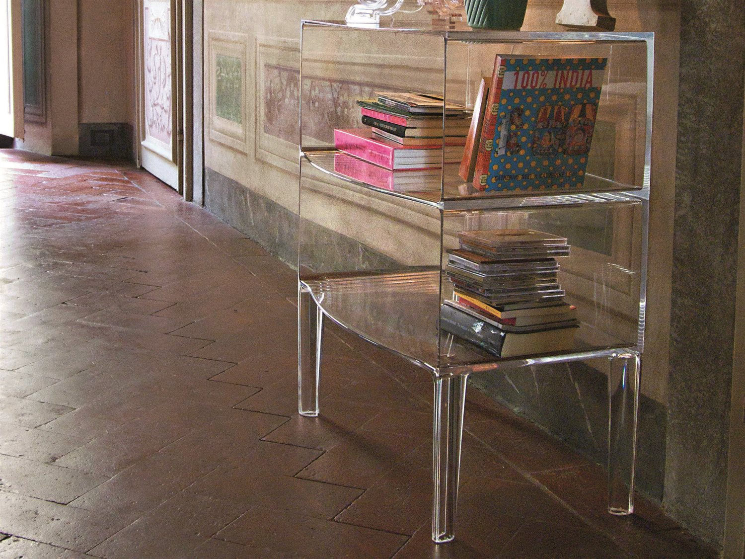 Kartell Ghost Buster Transparent Crystal Bookcase