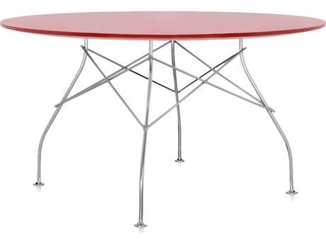 Kartell Glossy Red 52'' Wide Round Dining Table KAR4561E7