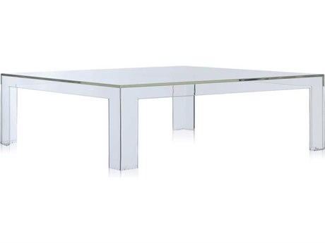 Kartell Invisible Transparent Crystal 39'' Wide Square Coffee Table KAR5075B4
