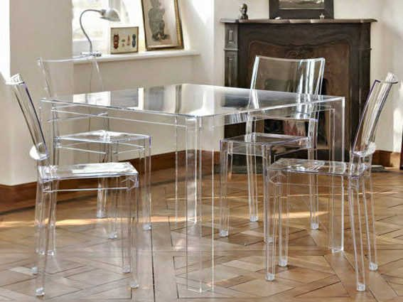 Kartell La Marie Transparent Crystal Dining Side Chair (Sold in 2)