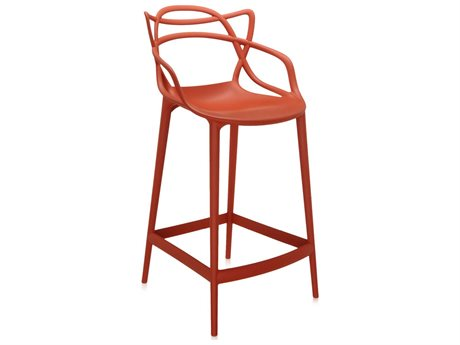 Kartell Masters Rust Orange Counter Stool KAR586915