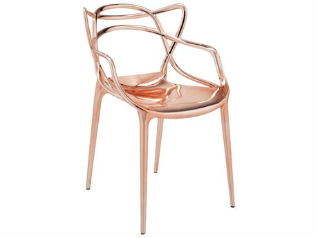 Kartell Masters Metallic Copper Dining Arm Chair (Sold in 2)