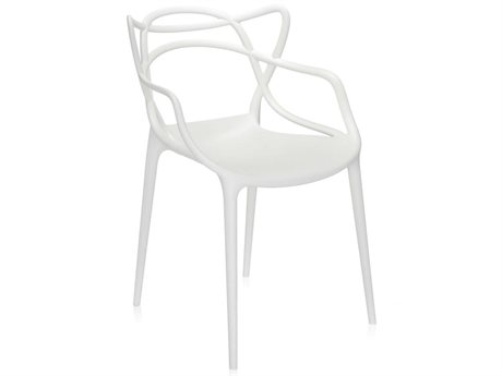 Kartell Masters White Dining Arm Chair (Sold in 2) KAR586503