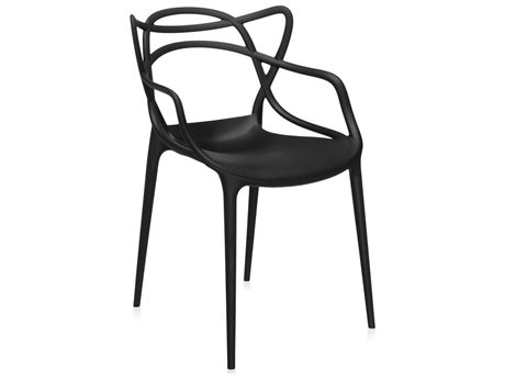 Kartell Masters Black Dining Arm Chair (Sold in 2) KAR586509