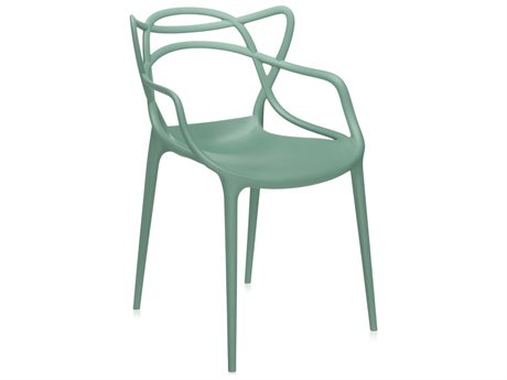 Kartell Masters Sage Green Dining Arm Chair (Sold in 2) KAR586514