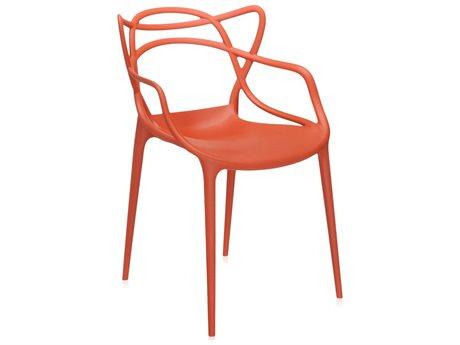 Kartell Masters Rust Orange Dining Arm Chair (Sold in 2) KAR586515