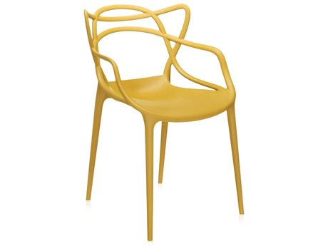 Kartell Masters Mustard Dining Arm Chair (Sold in 2) KAR586516