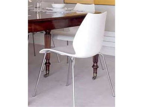 Kartell Maui Zinc White Dining Side Chair (Sold in 4)