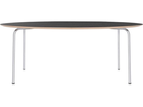 Kartell Maui Anthracite 79''L x 34''W Oval Dining Table