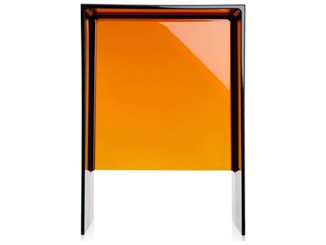 Kartell Max-Beam Transparent Amber 13''L x 11''W Rectangular End Table