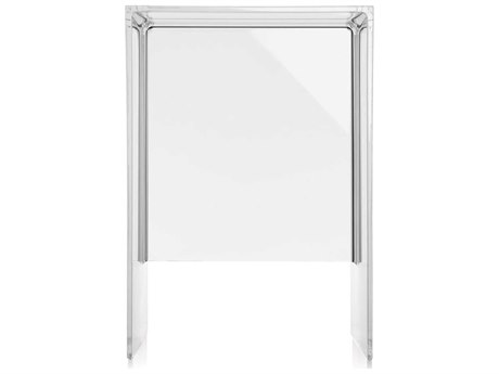 Kartell Max-Beam Transparent Crystal 13''L x 11''W Rectangular End Table
