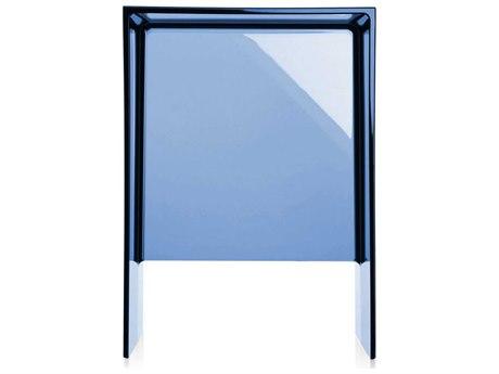 Kartell Max-Beam Transparent Sunset Blue 13''L x 11''W Rectangular End Table KAR9900BL
