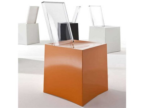 Kartell Miss Less Orange & Crystal Dining Side Chair KAR5885AC