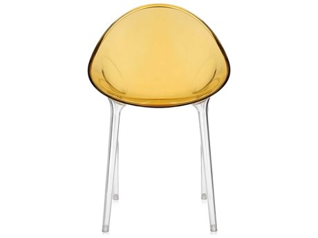 Kartell Mr Impossible Transparent Ochre Dining Side Chair KAR584042