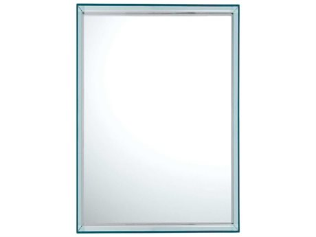 Kartell Only Me Transparent Light Blue 20''W x 28''H Rectangular Wall Mirror KAR8320AZ