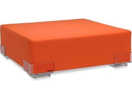 Kartell Plastics Orange Ottoman KAR609002