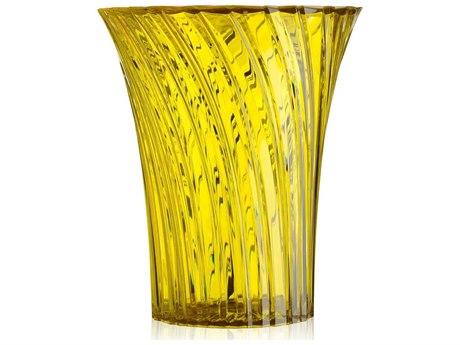 Kartell Sparkle Transparent Honey 15'' Wide Round End Table KAR8818MI