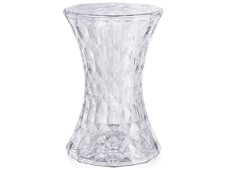 Kartell Stone Transparent Crystal Accent Stool