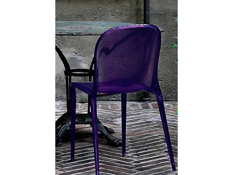 Kartell Thalya Transparent Violet Dining Side Chair (Sold in 2) KAR5810A1