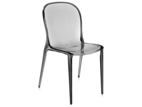 Kartell Thalya Transparent Smoke Grey Dining Side Chair (Sold in 2) KAR5810A4
