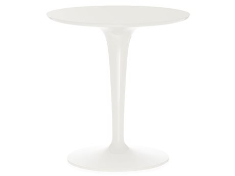 Kartell Tip Top Mono Glossy White 19'' Wide Round Pedestal Table