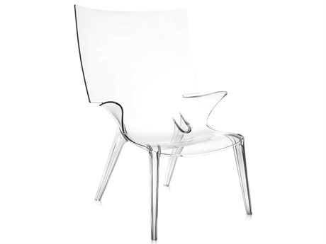 Kartell Uncle Jim Transparent Crystal Accent Chair KAR6410B4