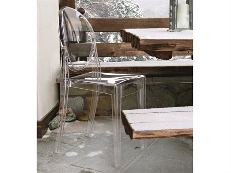 Kartell Victoria Ghost Transparent Crystal Dining Side Chair (Sold in 2)