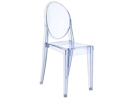 Kartell Victoria Ghost Transparent Light Blue Dining Side Chair (Sold in 2)