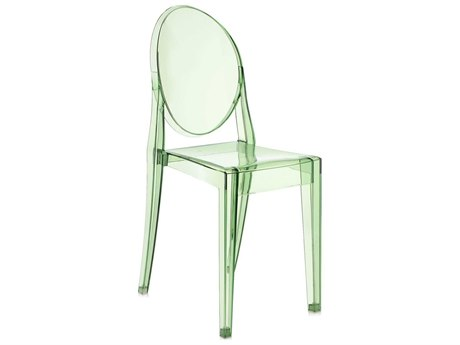 Kartell Victoria Ghost Transparent Green Dining Side Chair (Sold in 2)