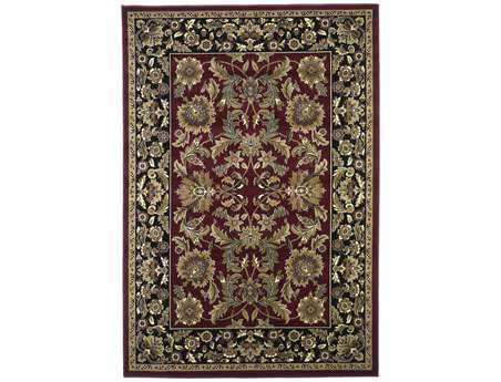 KAS Rugs Cambridge Red & Black Kashan Area Rug KG7301
