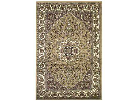 KAS Rugs Cambridge Beige & Ivory Kashan Medallion Area Rug KG7328