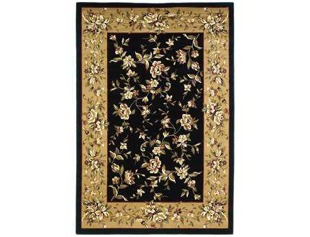 KAS Rugs Cambridge Black & Beige Floral Delight Area Rug KG7336