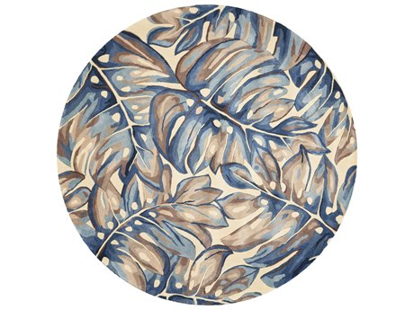 KAS Rugs Catalina Blue Round Area Rug