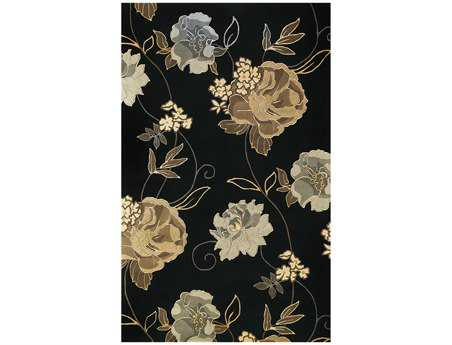 KAS Rugs Catalina Black Paradise 5' x 8' Rectangular Area Rug