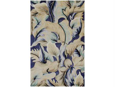KAS Rugs Catalina Blue Calla Lillies Area Rug