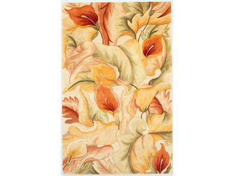 KAS Rugs Catalina Ivory Calla Lilies Area Rug KG758