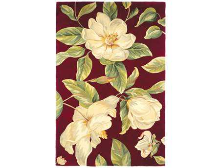 KAS Rugs Catalina Red Magnolia Area Rug