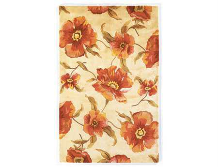 KAS Rugs Catalina Ivory Poppies Area Rug