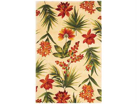 KAS Rugs Catalina Ivory Tropical Flora Area Rug KG780