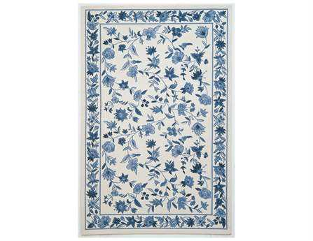 KAS Rugs Colonial Ivory & Blue Floral Area Rug KG1727
