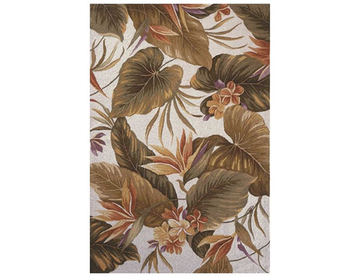 Kas Rugs Colonial Ivory Tropical Paradise Area Rug Kg1737