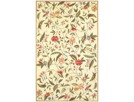 KAS Rugs Colonial Ivory Springtime Views Area Rug KG1783