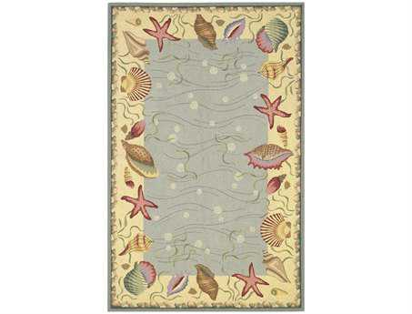 KAS Rugs Colonial Blue & Ivory Ocean Surprise Area Rug KG1804
