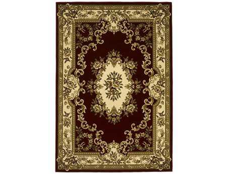KAS Rugs Corinthian Red & Ivory Aubusson Area Rug KG5308